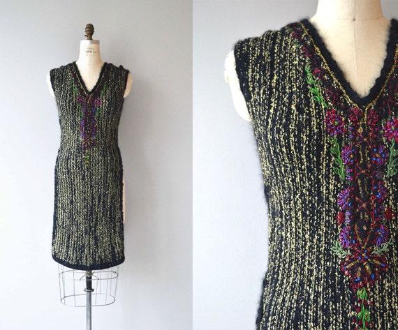 Rozanova knit tabard   rare 1920s wool knit dress