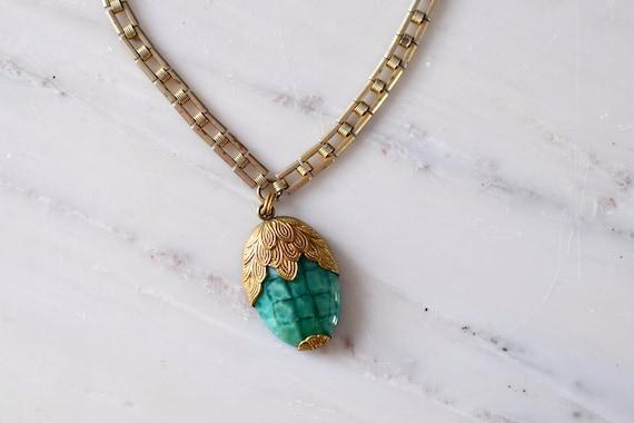 vintage 1930s necklace | 30s glass necklace | 193… - image 6