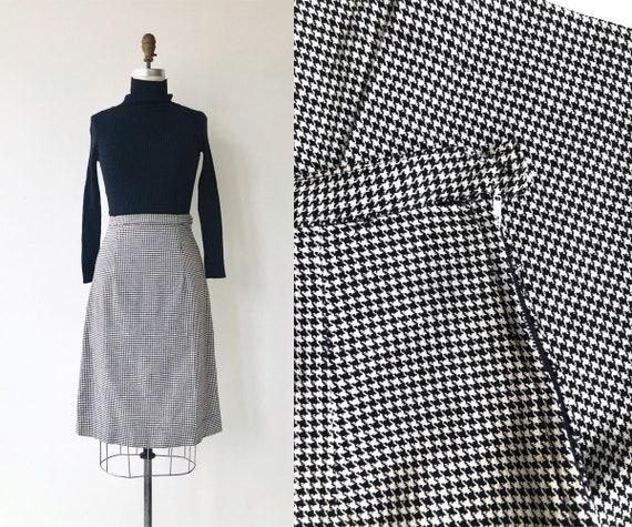Houndstooth pencil skirt   1950s skirt   1950s pen