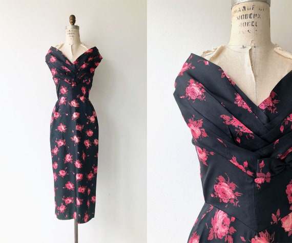 A Rose is a Rose dress | 1950s dress | floral 50s