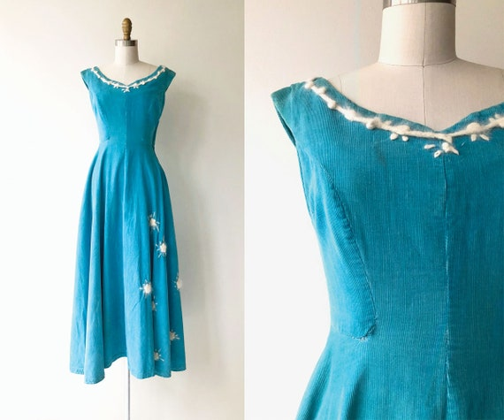 Corduroy Cloud dress | 1950s dress | corduroy 50s