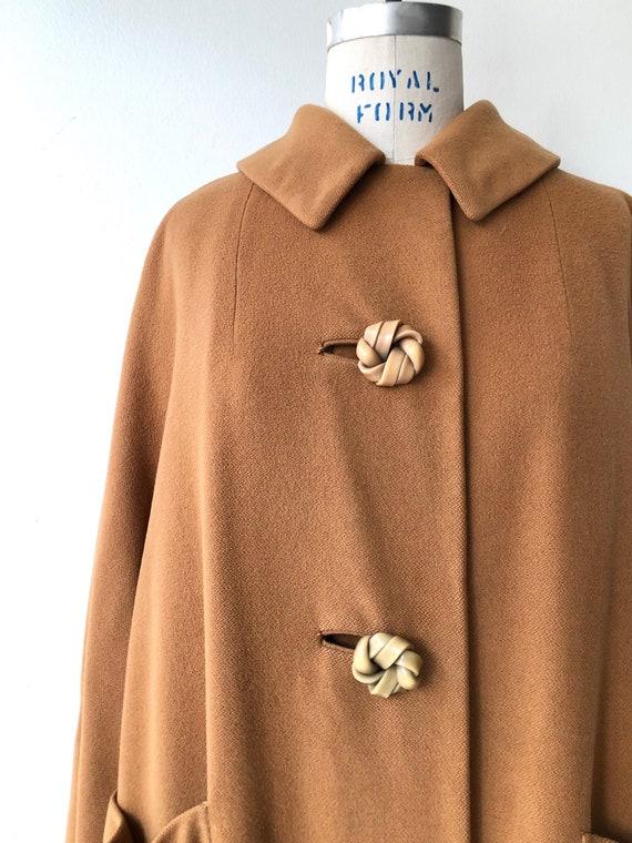 Toffee cashmere coat | 1950s swing coat | vintage… - image 7