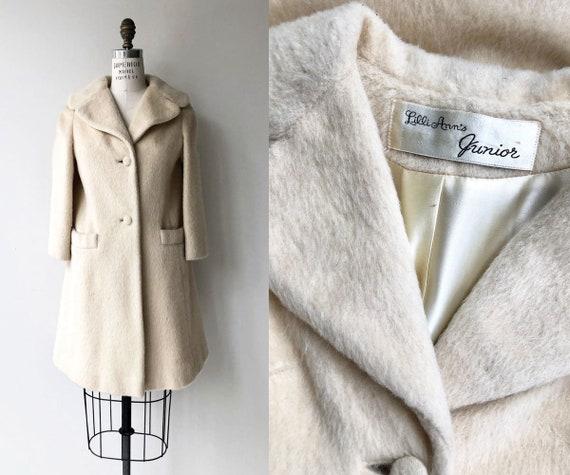 Lilli Ann mohair coat | cream 1960s Lillia Ann coa