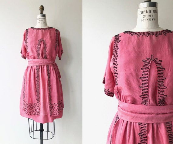 Little Heart silk dress | 1920s silk dress | silk