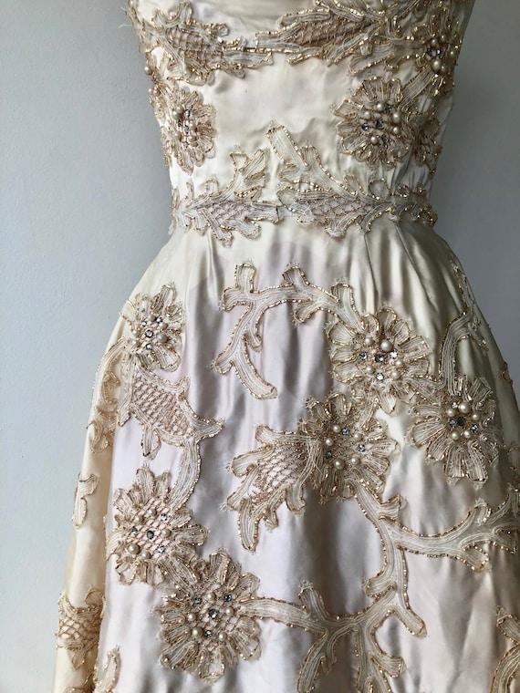 Ceil Chapman dress | 1950s designer dress | 50s p… - image 8