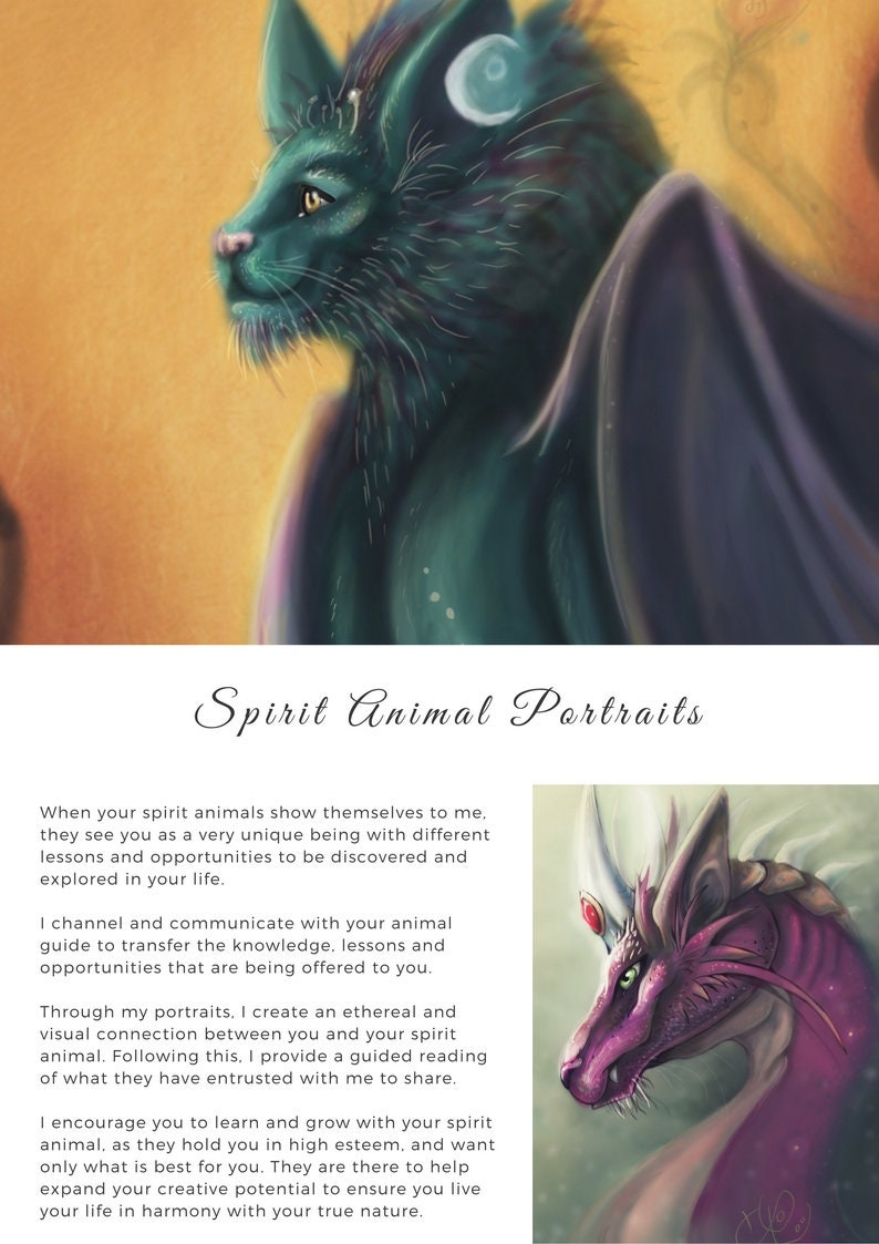Story from your spirit animal guide and portrait - with Meditation
