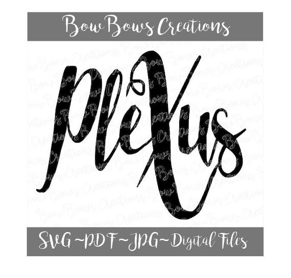 Plexus Heart Digital Cut File  SVG Plexus Vinyl Car Window Sticker  Decal   Monogram Tag  Laptop Decal  Iphone Label