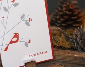 Cardinal Letterpress Card