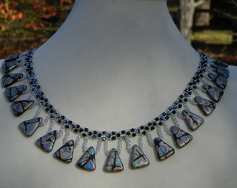 Lacy Necklace with Drops