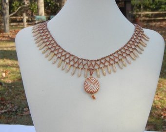 Lacy Daggers Necklace