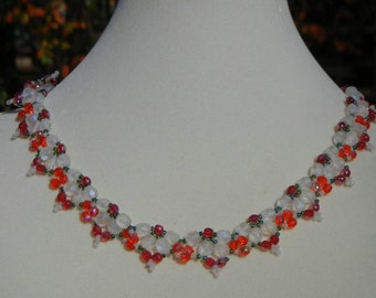 Crystal Fans Necklace