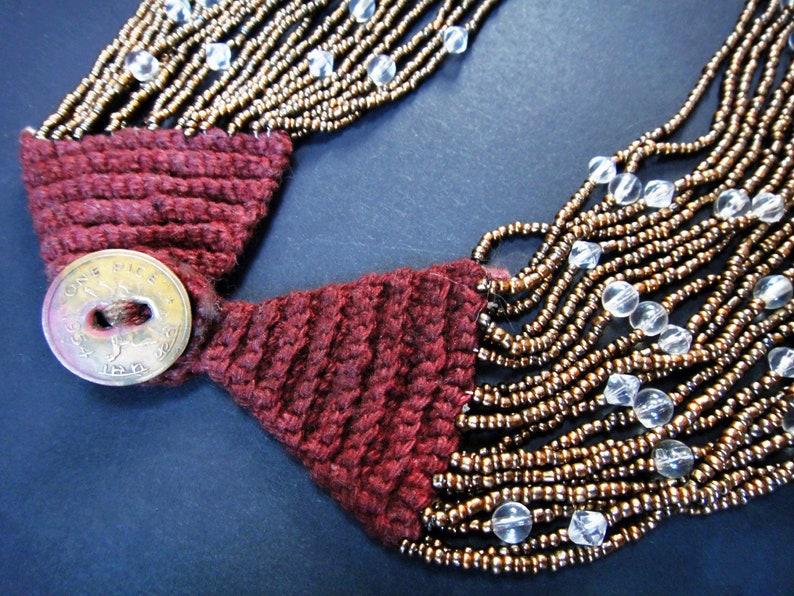 Starry Night Goddess 20-Strand Necklace of Bronze