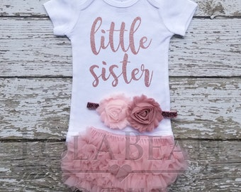 b8fbb095 Little Sister Coming Home Outfit, Newborn Baby Girl, Little Sister Outfit, Newborn  Girl Coming Home Outfit, Baby Girl Clothes