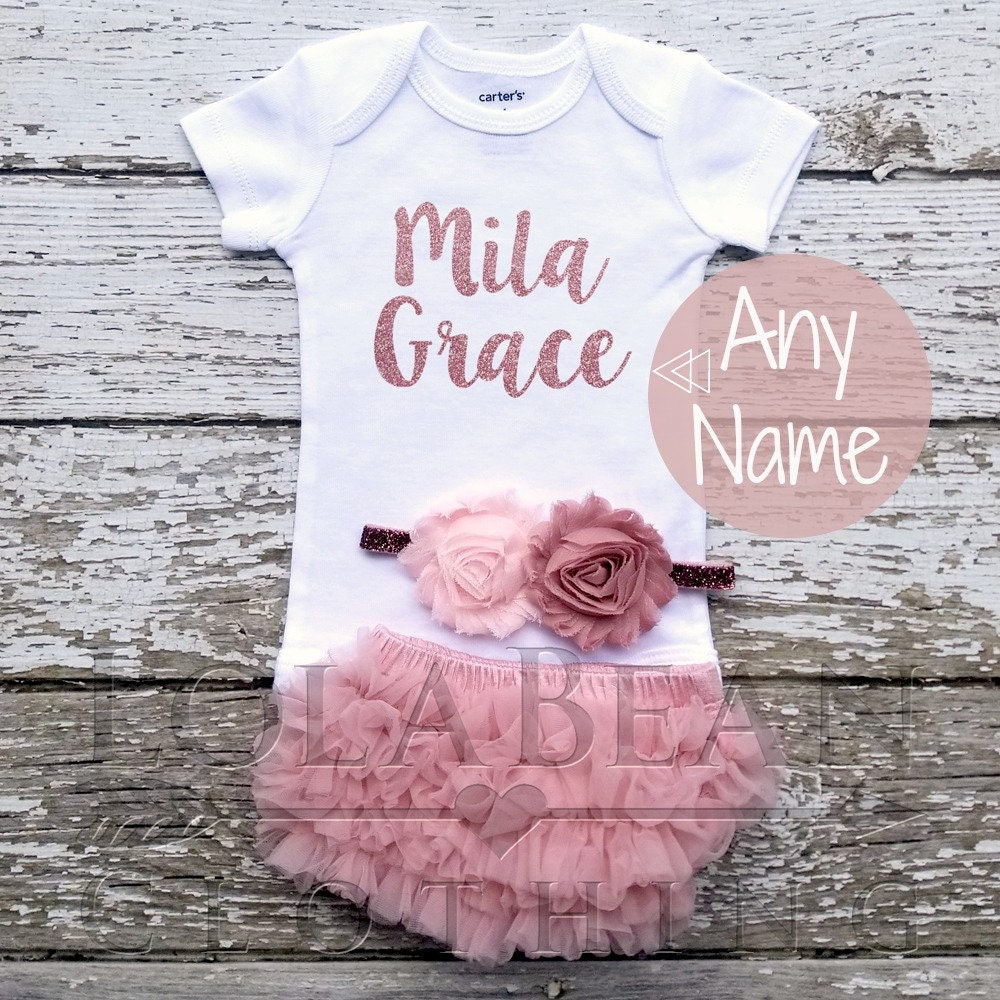 0a5fd1f86 Baby Girl Coming Home Outfit \\ Baby Clothes \\ Baby Shower Gift \\ Newborn  Girl Outfit \\ Rose Gold