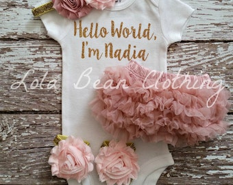 Baby Girl Coming Home Outfit \\ Baby Girl \\ Baby Girl Gift \\ Baby Girl Clothes \\ Baby Girl Take Home Outfit