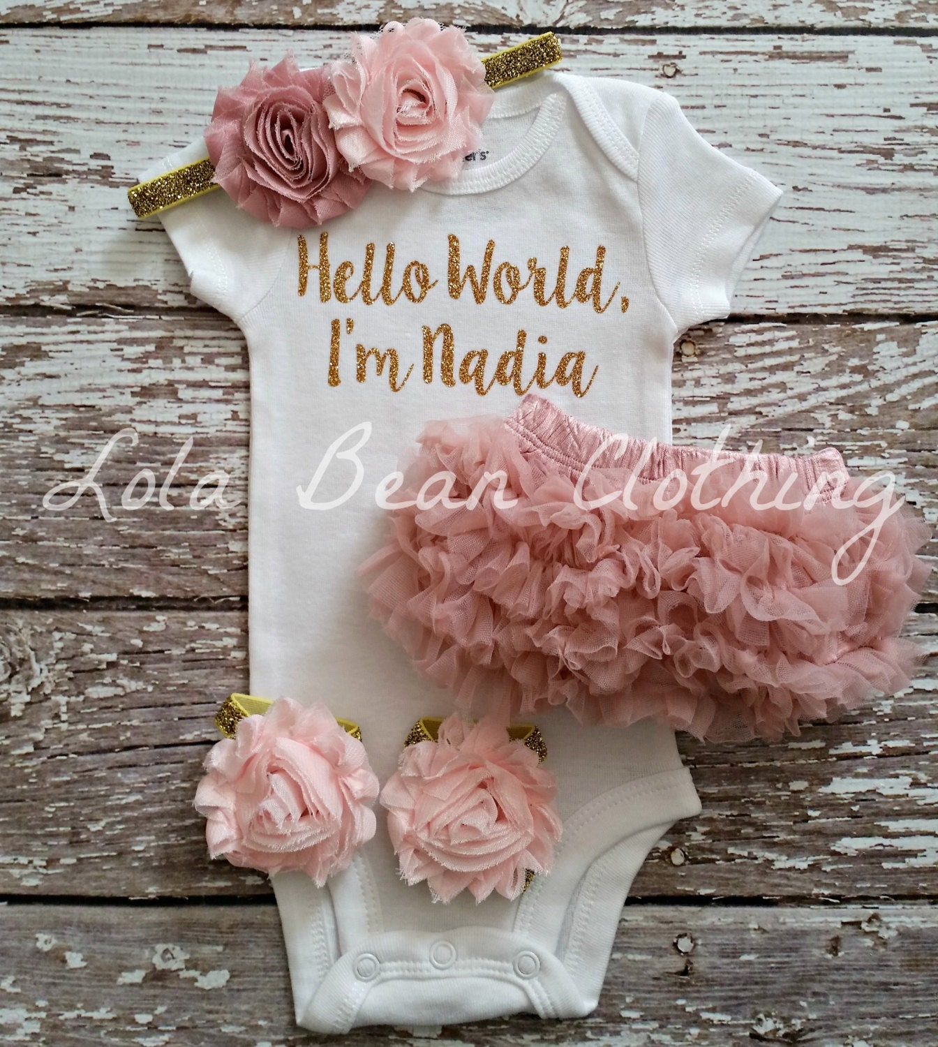 9c084813f67b4 Baby Girl Personalized Gift | Baby Girl Coming Home Outfit | Newborn ...