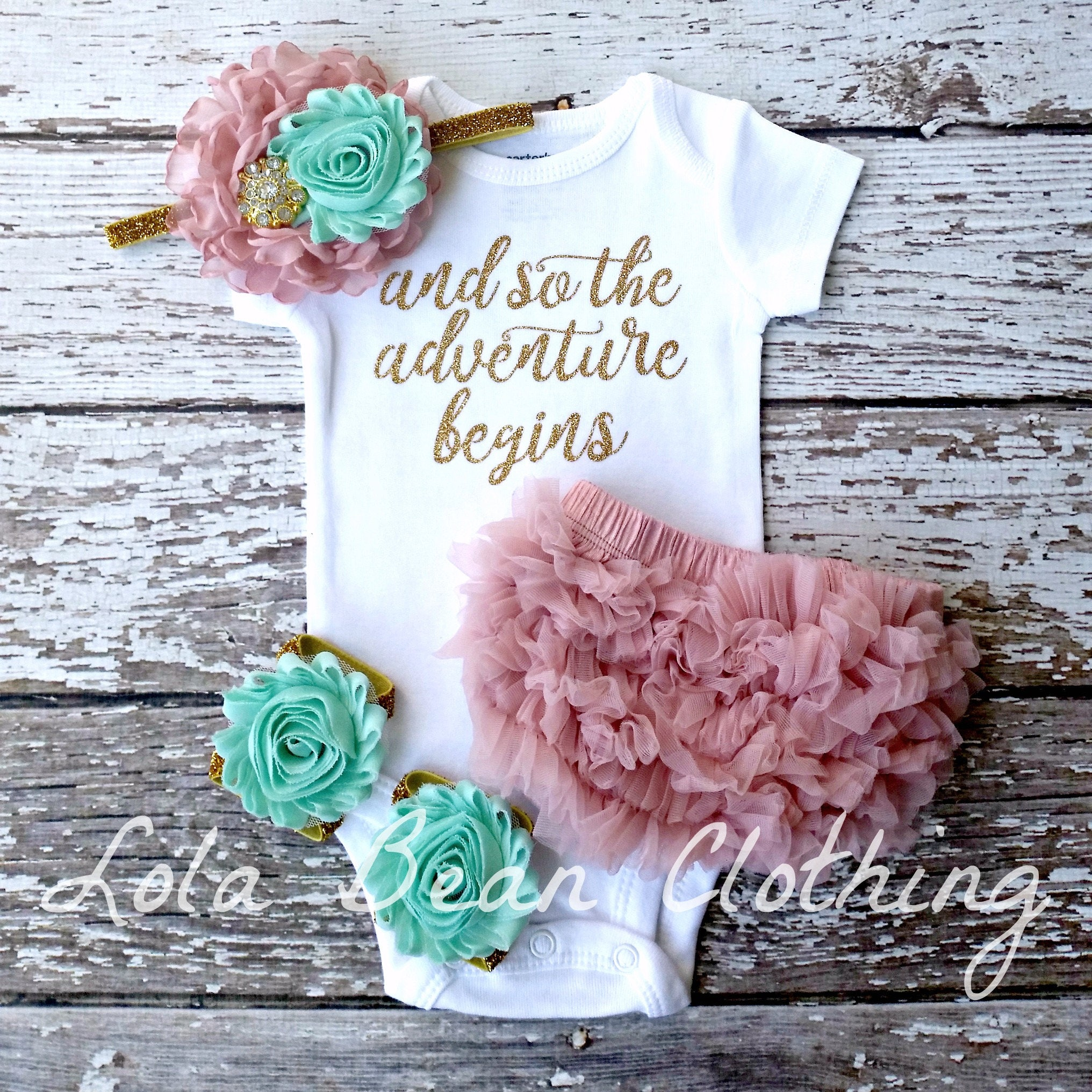 fbab6d8d1dc0 Baby Girl Coming Home Outfit And So the Adventure Begins Take ...