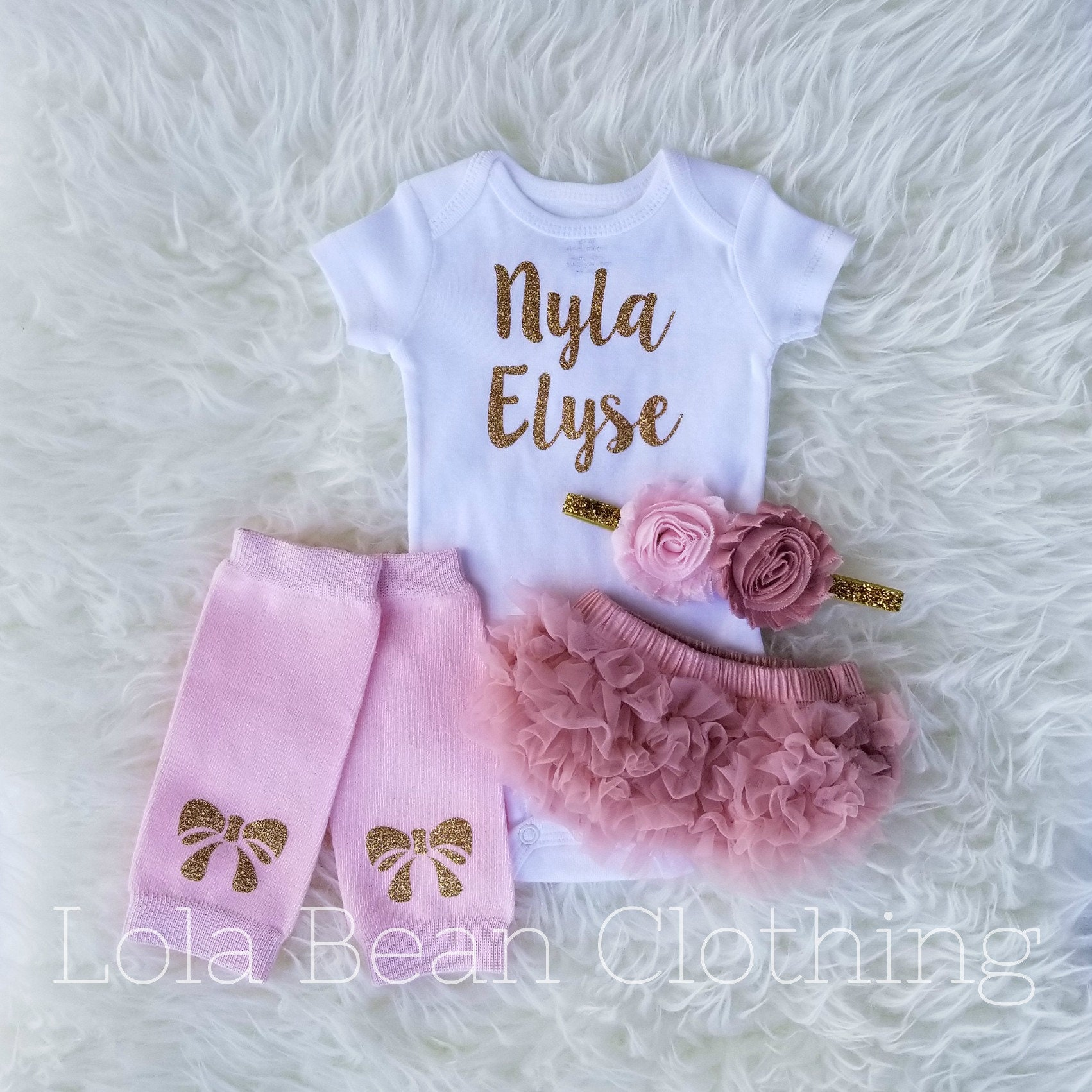 6c694f08c Baby Girl Coming Home Outfit \\ Newborn Girl \\ Take Home Outfit \\ Hello  World Outfit \\ Winter Coming Home Outfit \\ Personalized Gift