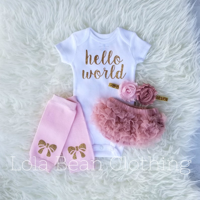 f7e362149 Baby Girl Coming Home Outfit Newborn Girl Take Home   Etsy