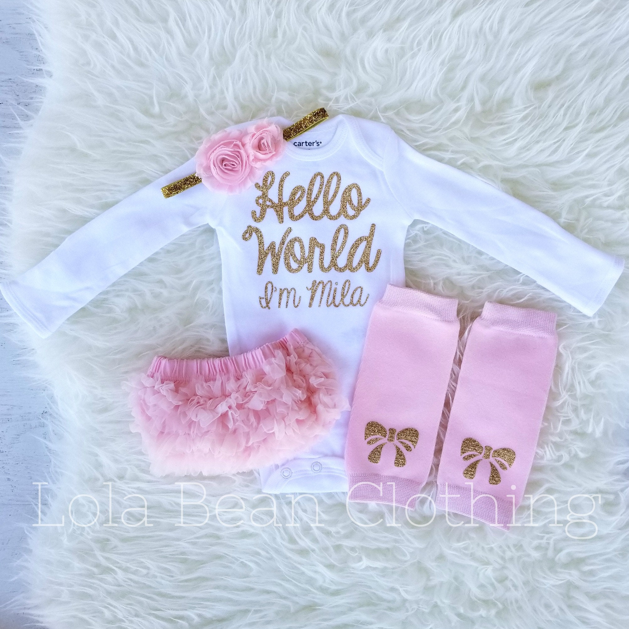 e81f4d1c4 Baby Girl Coming Home Outfit Winter