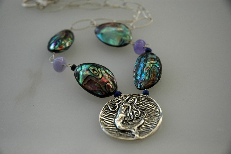 Abalone Mermaid Necklace image 0