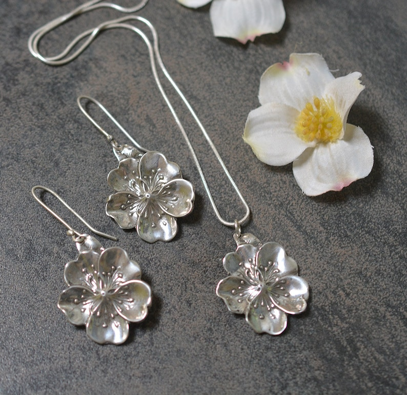 Cherry Blossom Earring & Necklace set image 0