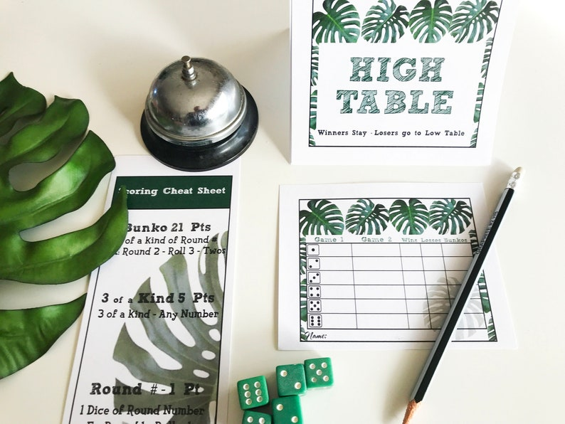 Monstera Bunko Score Cards Table ID Tents and Score Cheat image 0