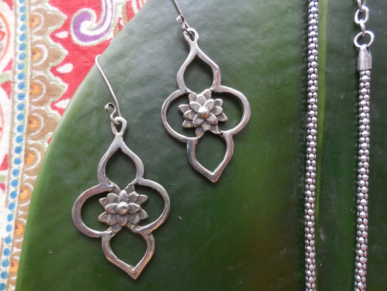 Java Earrings in Sterling Silver image 0