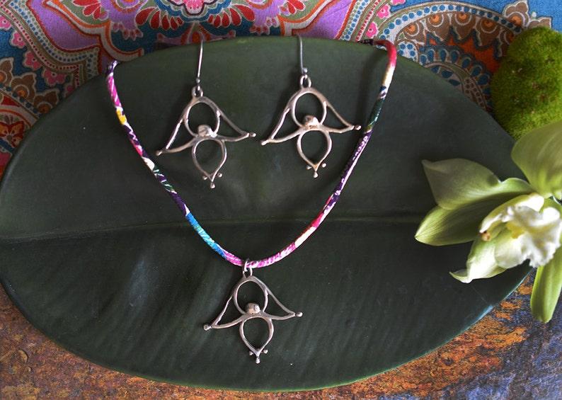 Floating Leaf Sterling Silver Earrings image 0