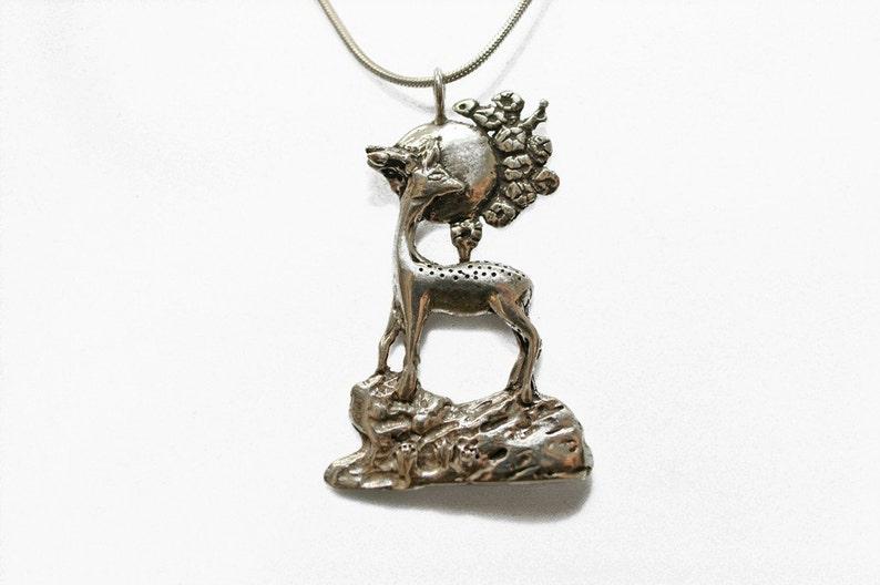 Deer Moon Necklace image 0