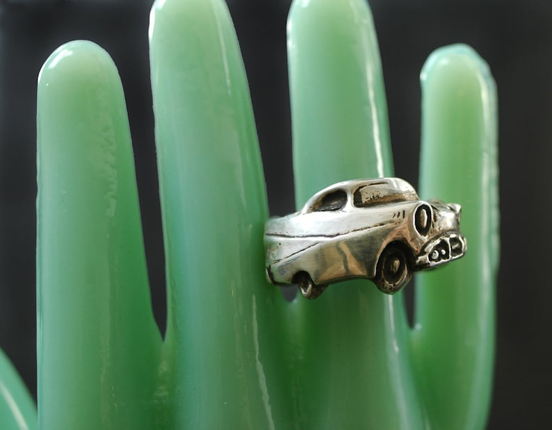 1957 Chevy Belair Wrap Ring in Sterling Silver  Car Ring  image 0