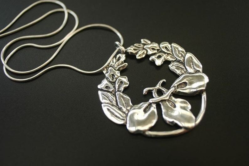 Passion Flower Pendant Necklace image 0