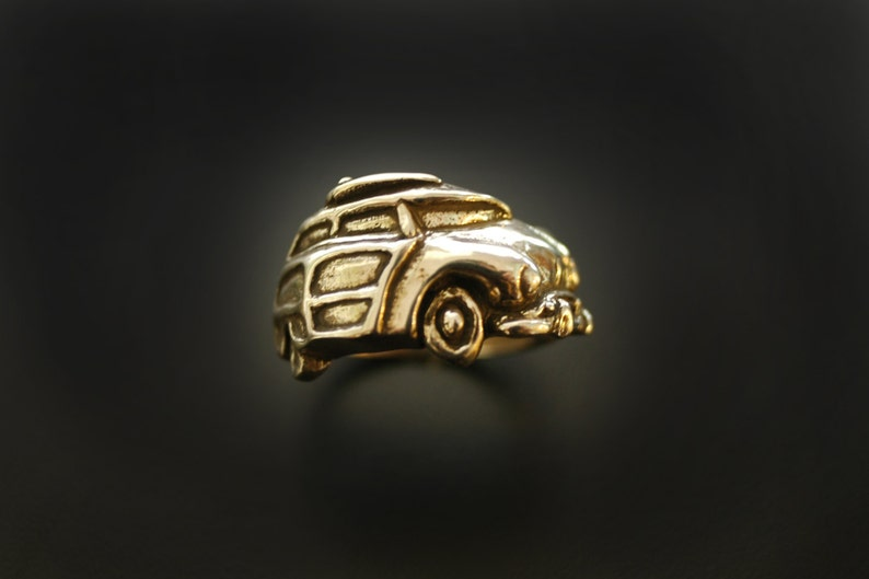 1949 Ford Woody Wrap Ring in Sterling Silver image 0