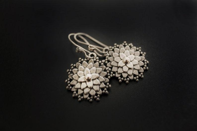 Dahlia Earrings in Sterling Silver image 0