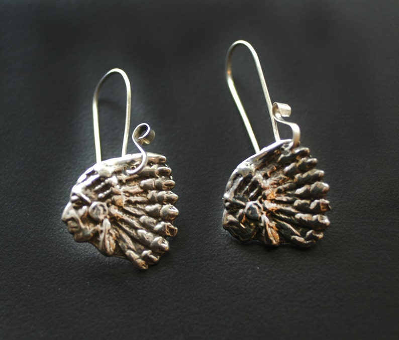Southwestern Indian Chief Earrings image 0