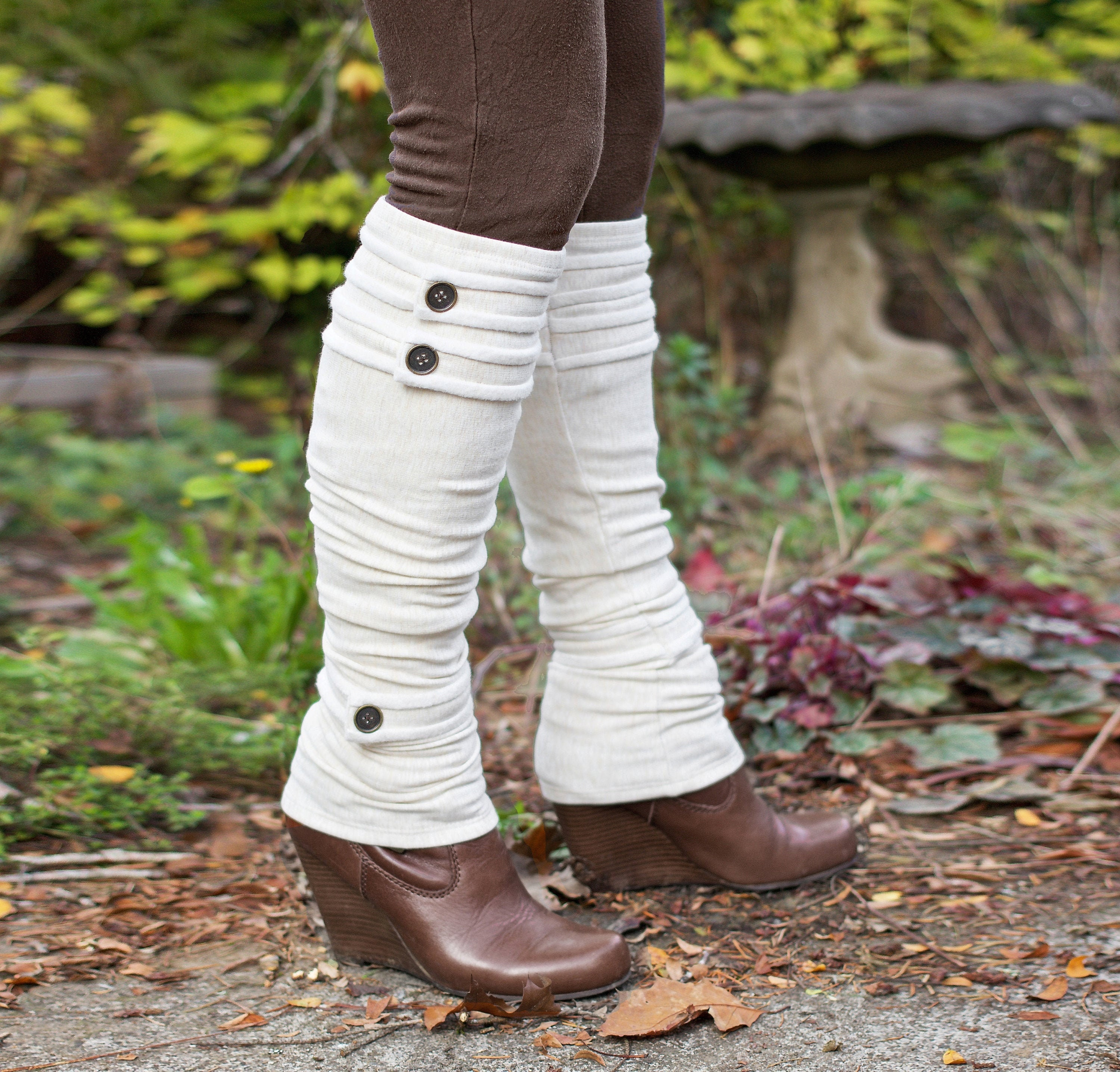 Spats, Gaiters, Puttees – Vintage Shoes Covers Knee High Leg Warmers - Spats With Buttons Eco Friendly Bamboo Fleece $52.00 AT vintagedancer.com