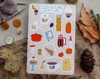 Cozy Autumn Sticker Sheet   Glossy Sticker Sheet