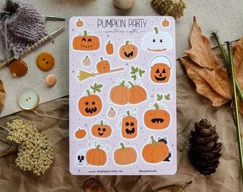 Pumpkin Party Sticker Sheet   Glossy Sticker Sheet