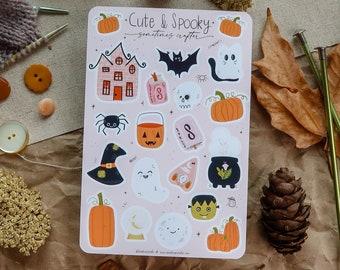 Cute & Spooky Sticker Sheet   Glossy Sticker Sheet