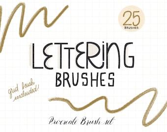 Lettering Procreate Brush Set