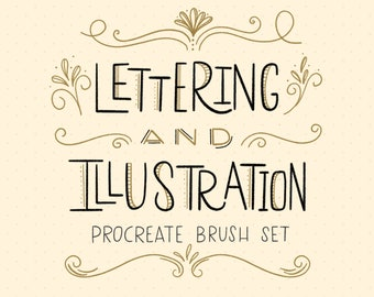 Lettering & Illustration Procreate Set