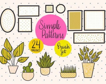 Simple Pattern Procreate Brush Set