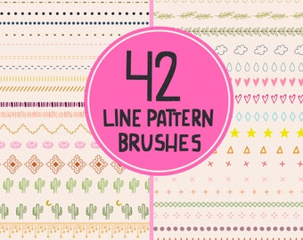 Line Pattern Brushes Procreate Brush Pack