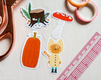 Autumn Vibes Glossy Sticker Pack   Sticker Pack 01