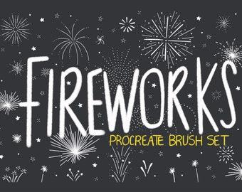 Sketchy Fireworks Procreate Brush Set