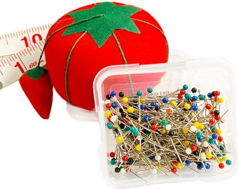 40 x BERRY PINS Dress Making Swing Craft Needle Pin Work Pins With Case GEM