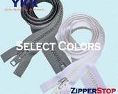 Extra Heavy Duty Ykk Zippers- 36 inch Vislon Zipper YKK 10 Molded Extra-Heavy Separating - Excellent for Jackets - Select Color