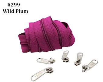 Long Pull YKK\u00ae Nylon Coil #4.5 Handbag Black Zippers with Long Pull Sliders-Closed Bottom Made in USA-5 zippers with YKK\u00ae #4.5 Sliders 3pcs