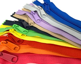 Handbag Purse Pull Zippers 1 to 10 pcs 16 Inch Off White Long Pull Nylon Zippers