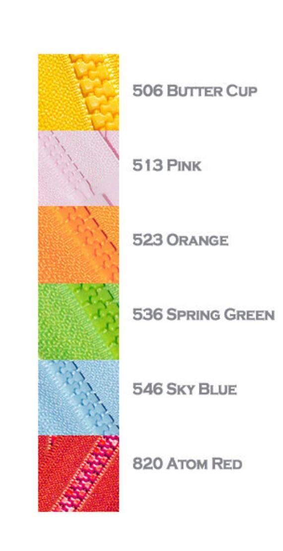 """Sky Blue 546 14/"""" to 36/"""" #5 Aluminum Separating Jacket Zippers YKK ~ ZipperStop"""
